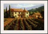 Tuscan Vineyard Print by Roger Williams