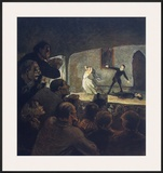 The Play Art by Honore Daumier