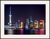 Shanghai at night Prints by Vadim Ratsenskiy