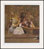 The Art Dealer Gersaint's Sign Board (right part) Print by Antoine Watteau