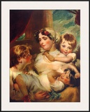 Mrs. Weddel and Children Print by George Henry Harlow