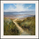 Seaside Path Framed Giclee Print by Michael J. Sanders