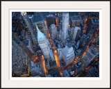 Aerial view of Wall Street Print by Cameron Davidson