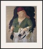 Mujer con Sombrero Rojo Poster by Fernando Botero