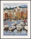 Terracotta Harbor Print by  Furtesen