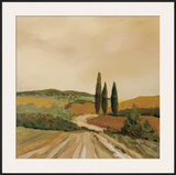 Shady Tuscan Fields Framed Giclee Print by J. Clark