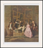The Art Dealer Gersaint's Sign Board (left part) Prints by Antoine Watteau