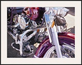 Purple Harley Prints by Tom Blackwell