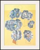 Fleurs sur Fond Jaune Prints by Max Ernst