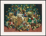Teddy Bear Christmas Prints by Janet Kruskamp