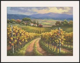 Vineyard Hill I Art by Sung Kim