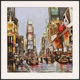 Times Square Jam Poster by John B. Mannarini