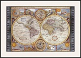 Antique Map, New Map of the World, 1626 Prints by John Speed