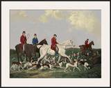 Earl of Derby's Stag Hounds Posters by  Barenger