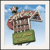 Suzy Cue's Game Room Framed Giclee Print by Anthony Ross