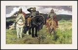Bogatiri Prints by Victor Mikhailovich Vasnetsov