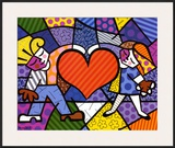 Heart Kids Prints by Romero Britto
