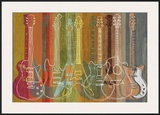 Guitar Heritage Prints by Mj Lew
