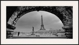 Paris, Under the Bridge Framed Giclee Print by Sabri Irmak