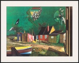Strange Passage of Birds Over Dangast Print by Franz Radziwill