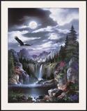 Moonlit Eagle Art by Alma Lee