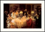 The Dinner Party Posters by Jules-Alexandre Grün