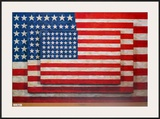 Three Flags Poster por Jasper Johns