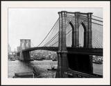 Brooklyn Bridge, New York, 1900 Art by A. Loeffler