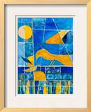 Blue Horizons Framed Giclee Print by Margaret Coxall