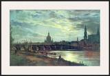 Blick Auf Dresden Posters by Johan Christian Clausen Dahl