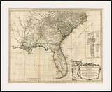 General Map of the Southern British Colonies, in America, c.1776 Prints by Robert Sayer