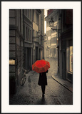Red Rain Print by Stefano Corso