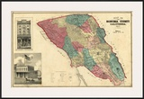 Map of Sonoma County California, c.1877 Poster by Thos. H. Thompson