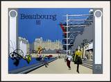 Beaubourg Poster by  Otso