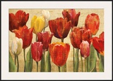 Tulip Fantasy on Cream Posters by Marilyn Hageman