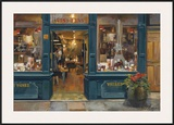 Parisian Wine Shop Print by Marilyn Hageman