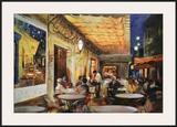 Café Van Gogh Art by Maria Zielinksa