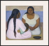 Two Women and a Child Poster by Diego Rivera
