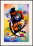 Homage to Kandinsky Print by Alfred Gockel