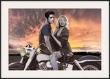 Sunset Ride Prints by Joshua Nelson