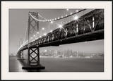 Bay Bridge at Night Prints by Aaron Reed