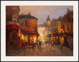 Parisian Night Scene Prints by Yuri Borsuk