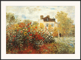 The Artist's Garden in Argenteuil Posters by Claude Monet