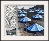The Blue Umbrellas II Prints by  Christo