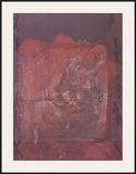 Relief in Ziegelfarbe Prints by Antoni Tapies