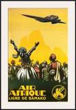 Air Afrique Print by  Alo (Charles-Jean Hallo)