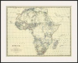 Africa, c.1861 Posters by Alexander Keith Johnston
