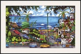 Moonlight Beach Framed Giclee Print by Alan Casagrande