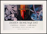 While the Earth reveiolved at night Art by James Rosenquist