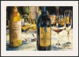 Bordeaux and Muscat Prints by Marilyn Hageman
